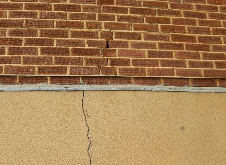 A house that needs structural repair