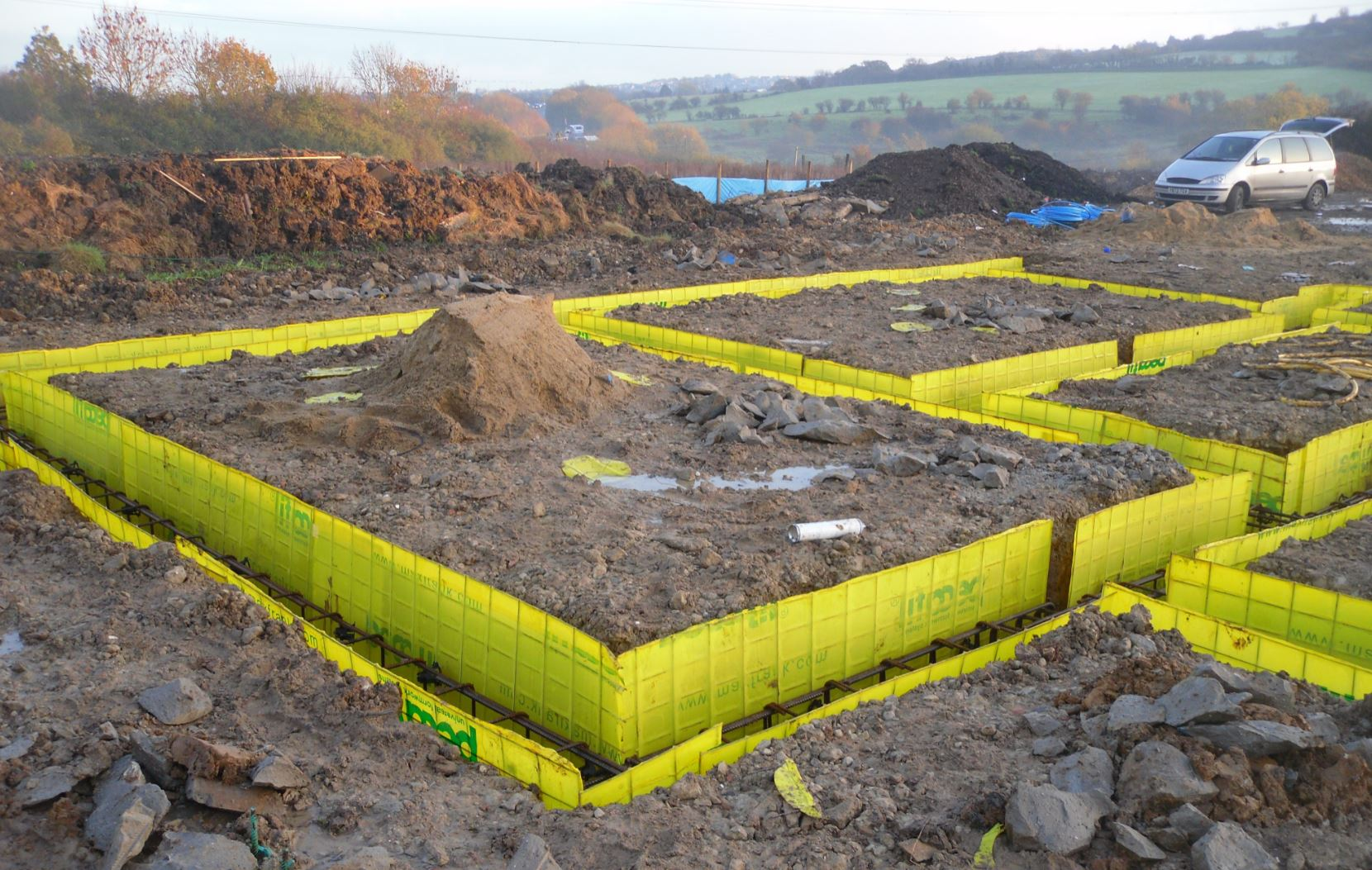 Piling is a way of securing the foundations of a building that rests on weak soil or other material, such as sand or silt.